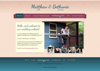 Bethanie Rossiter & Matthew Gill's Wedding Website