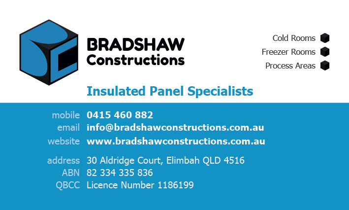 Bradshaw Constructions Business Card