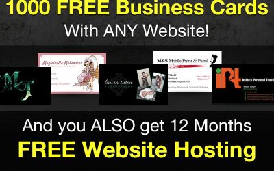 Christmas Special! 1000 Free Business Cards & Website Hosting!