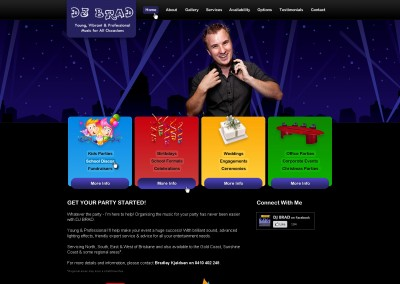 DJ Brad Website