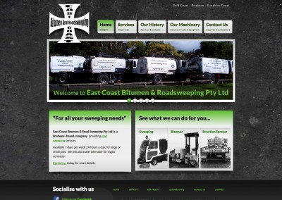 East Coast Bitumen & Roadsweeping Website