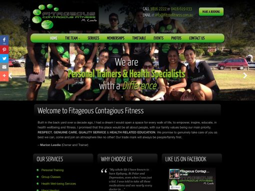 Fitageous Contagious Fitness Website