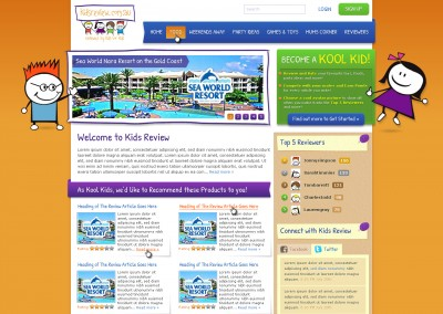 Kids Review Website