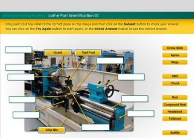 Sunshine Coast TAFE – Lathe Parts e-Learning Activities