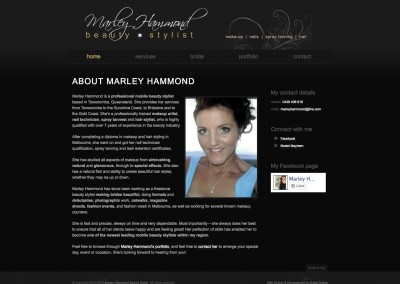 Marley Hammond Beauty Stylist Website