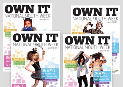 "Moreton Bay Region Youth Week ""OWN IT"" Brochure and Posters 2011"