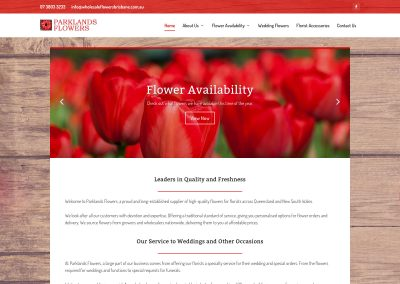 Parklands Flowers Website