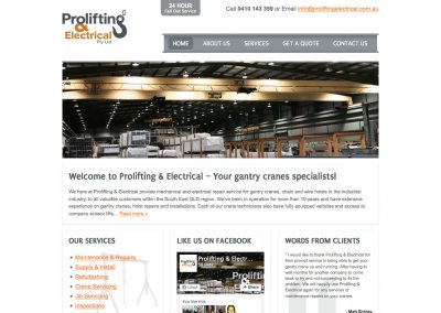 Prolifting & Electrical Website