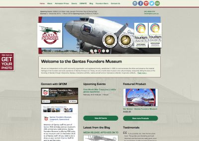 Qantas Founders Museum Website