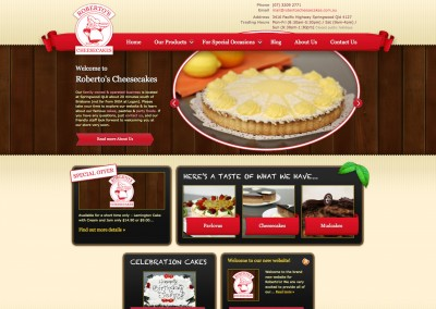Robertos Cheesecakes Website