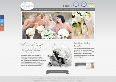 Sara Meredith Designer Wedding Florist Website