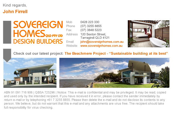 Sovereign Homes Email Signatures