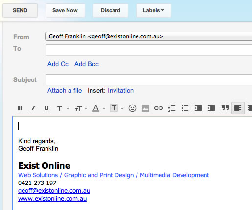 ... Regards Signature For Email How to setup an email signature in gmail