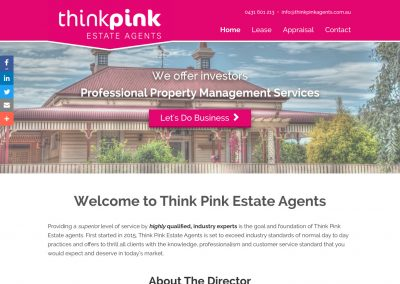 Think Pink Estate Agents Website