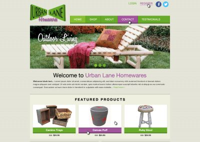 Urban Lane Homewares Website