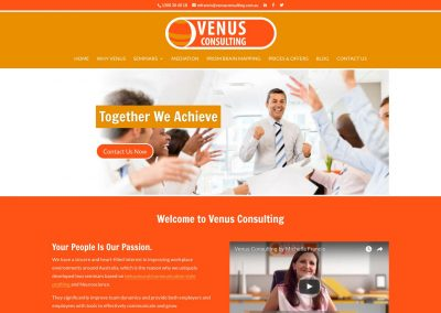 Venus Consulting Website