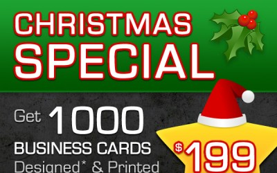 Christmas Special! 1000 Business Cards for $199!